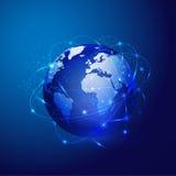 Red de malla global de Digitaces Ilustración del Vector
