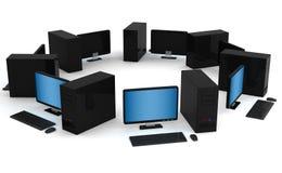 Red de ordenadores Imágenes de archivo libres de regalías