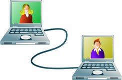 Red de ordenadores Imagen de archivo libre de regalías