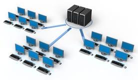 Red de ordenadores Fotografía de archivo