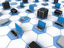 Red de ordenadores stock de ilustración