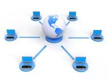 Red de ordenadores Imagenes de archivo