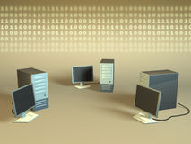 Red de ordenadores Fotos de archivo