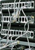 Red de ordenadores apretada Fotos de archivo