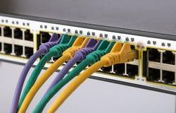Red de ordenadores de la tecnología de la información, telecomunicación foto de archivo libre de regalías