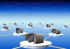 Red de ordenadores global. Fotografía de archivo libre de regalías
