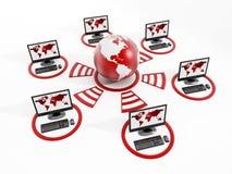 Red de ordenadores global Imagen de archivo libre de regalías