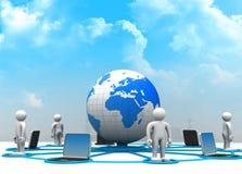 Red de ordenadores global stock de ilustración