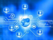 Red de ordenadores global ilustración del vector