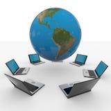 Red de ordenadores global. Concepto del Internet.