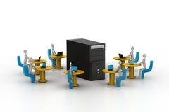Red de ordenadores. Imagen conceptual Fotos de archivo