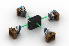 Red de ordenadores. Imagen conceptual Fotografía de archivo libre de regalías