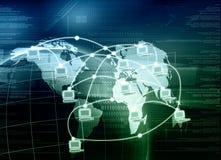 Red de ordenadores mundial stock de ilustración