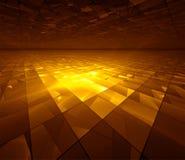 Red de oro - ilustración del fractal Imagenes de archivo