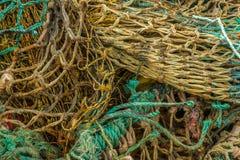 Red de pesca coloreada Imágenes de archivo libres de regalías