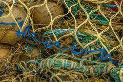 Red de pesca coloreada Foto de archivo