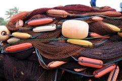 Red de pesca en un barco de pesca de la isla de Ceilán Foto de archivo