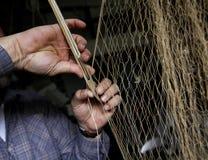 Red de pesca paching foto de archivo libre de regalías