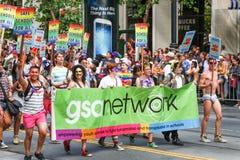Red de San Francisco Pride Parade GSA Fotos de archivo libres de regalías