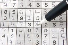 Red de Sudoku imagen de archivo libre de regalías