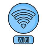 Red de Wifi, Art Line Foto de archivo libre de regalías
