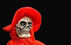 Red Death - Isolated. Halloween doll of Red Death in isolation on a black background Royalty Free Stock Images
