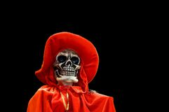 Red Death - Isolated - 2. Halloween doll of Red Death in isolation on a black background Stock Photos