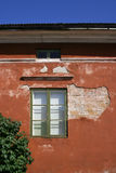 Red decayed house Stock Image