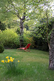 Red deck chair Stock Photos