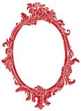 Red decor frame Royalty Free Stock Image