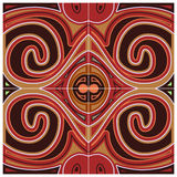 Red Decoration Pattern Royalty Free Stock Image