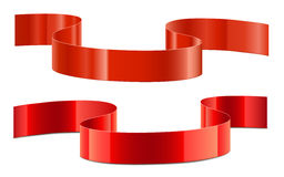 Red decoration ribbon Stock Photography