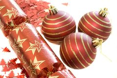 Red decorations Stock Photos