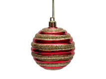 Red decorations Christmas ball Stock Photo