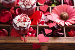 Red decorations for Valentines day Royalty Free Stock Photos