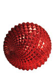 Red decorative bauble Stock Photography
