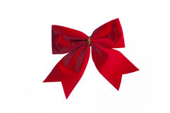 Red decorative bow Royalty Free Stock Photography