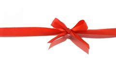 Red decorative bow ribbon Stock Photography