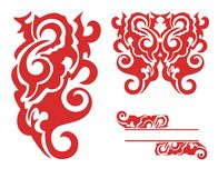 Red decorative elements Royalty Free Stock Photography