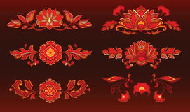 Red decorative flowers Royalty Free Stock Photo