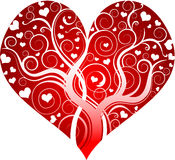 Red decorative heart. The image of heart, is possible for a Valentine's Day card Stock Photos