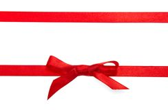 Red decorative narrow tape Royalty Free Stock Photography