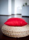 Red decorative pillow ininterior Royalty Free Stock Photos