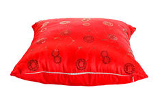 Red decorative pillow with pattern Stock Photography
