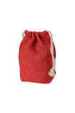 Red decorative rag bag Royalty Free Stock Images
