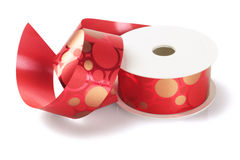 Red Decorative Ribbon Stock Images