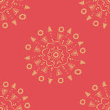 Red decorative wallpaper Royalty Free Stock Images