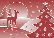 Red Deer. This is the Red Deer vector illustration for Christmas card Stock Images