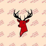 Red deer and wildlife in the hands of good people . love nature. Nhead of red deer with antlers. seamless texture. pattern and silhouette. For all who love Stock Photos