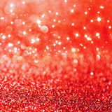 Red defocused glitter background Royalty Free Stock Photos